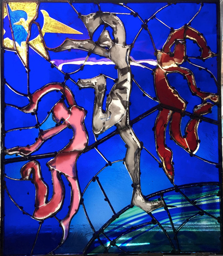 Wild Dance Stain Glass
